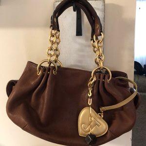 Juicy Couture Brown Leather Handbag